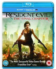 Resident evil the final chapter blu ray £10 @ Amazon