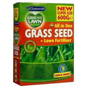 Chatsworth All In One Grass Seed + Lawn Fertiliser (600g) - £1 @Poundland