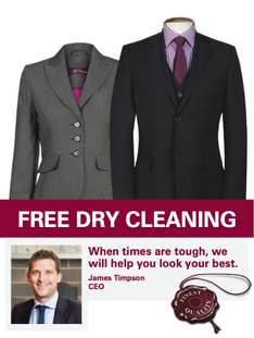 Timpsons are offering FREE dry cleaning of an Interview Outfit for the unemployed
