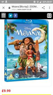 Moana blu ray £8.99 with signup10 @ Zoom