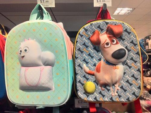 Children bag pack £1.99 @ Home Bargains