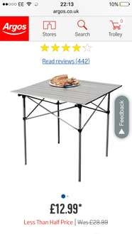 Aluminium Folding Camping Table With Slatted Top 12 99 Argos