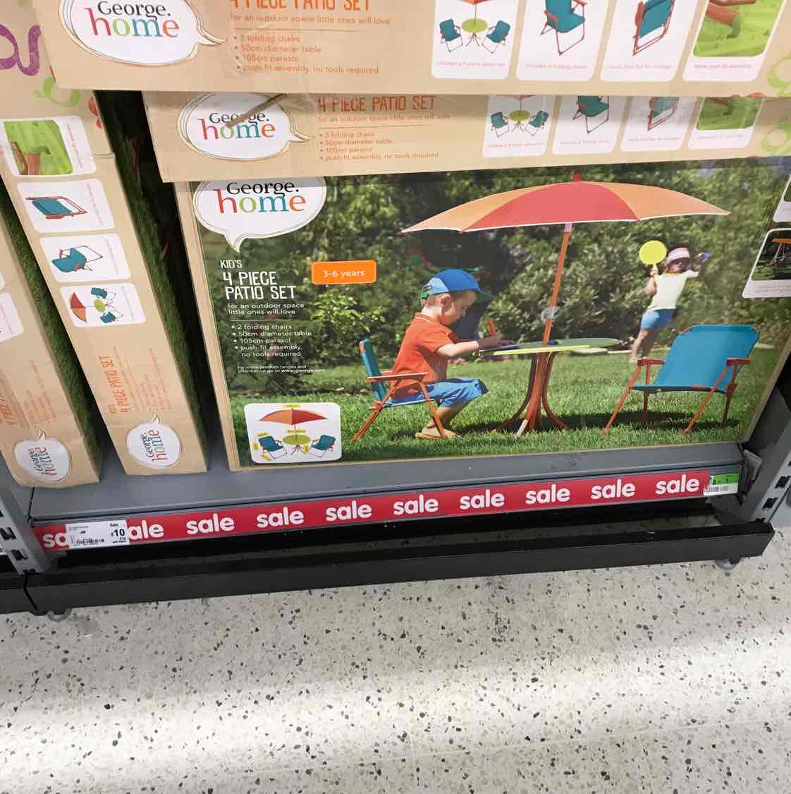 kids 4 piece patio set £10 Asda