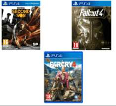 Infamous second son (PS4) + Far cry 4 (PS4) + Fallout 4 (PS4) preowned £15.00 @ GAME
