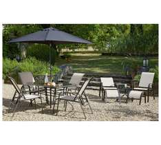11 piece adjustable outdoor dining set £129.99 @ Argos (Delivery from: £6.95)