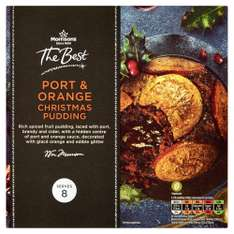 Morrisons The Best Port and Orange Christmas Pudding, 800g - Less Than Half Price! - Amazon Prime Now