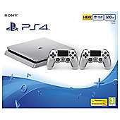 Silver 500gb PS4 Slim with 2 controllers + Doom, Dishonored 2 & Fallout 4 for £249.99 @ Tesco