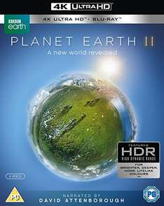 Planet earth 2 4k blue ray - £19.99 delivered @ Base / Amazon
