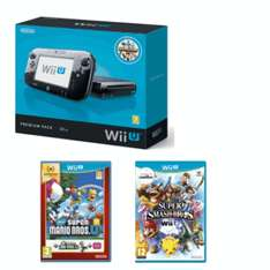 Wii U Black Console (Fair Condition) + New Super Mario Bros. U + Super Smash Bros £119.99 @ Game