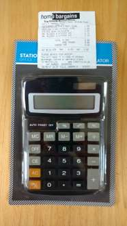 Large Calculator £1.29 Scanning £0.99 Home Bargains