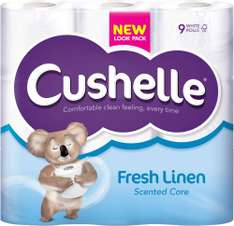 Cushelle Toilet Tissue White (9) ONLY £3.00 @ Costcutter discount deal