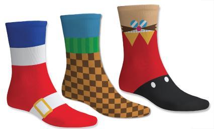 Sonic the Hedgehog / Street Fighter / PlayStation Socks - £3.99 a pair - Grainger Games (Playstation Coasters Vol 1 - £3.99)