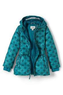 Girls' Midweight Patterned Skirted Down Parka was £80 now £32 @ Landsend More styles from £25