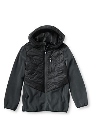 Boys' Fleece Hybrid Jacket Was £54.95 Now £20.00 @ Landsend plus more