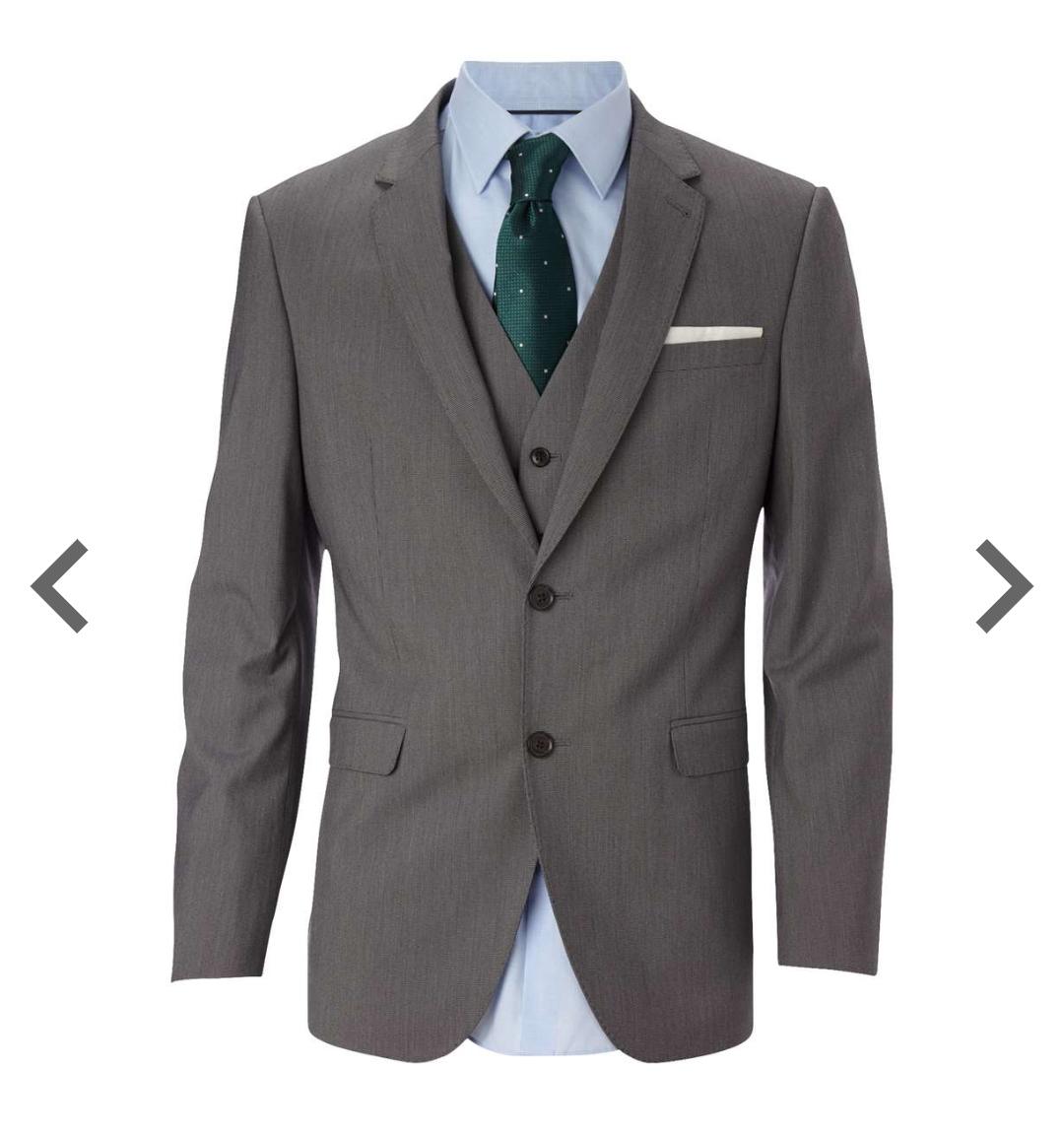 Gray tailored suit jacket Burton - £15.00 free c&c