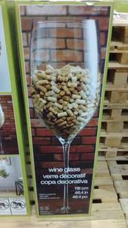 Giant wine glass 1.18 metres @Costco  in store only £59.98 discount deal