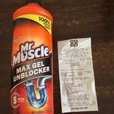 Mr Muscle Max Gel Unblocker - 1/2 price and 100% free - £2.19 - Co-op