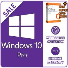 Windows 10 Pro license key 32/64bit £2.20-£2.49 @ Ebay / instant-pc-activation