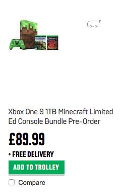 Xbox One S 1TB Minecraft Limited Ed Console Bundle (Misprice) - £89.99 - Arg0s