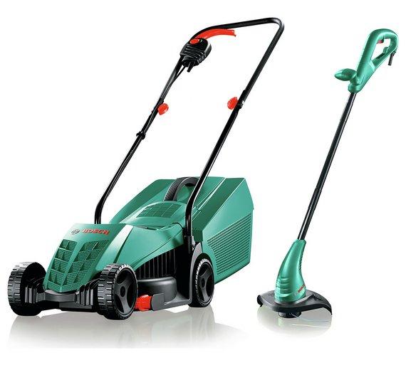 Bosch Corded Mower & Strimmer Twin Pack £79.98 @ Argos