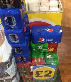 8pack of cans in Poundland £2 Pepsi max 7up and  Pepsi