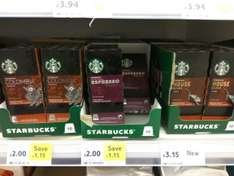 Starbucks Nespresso capsules – Colombia and Roasted £2 (box of 10) Tesco instore