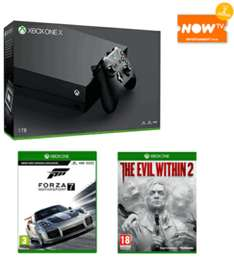 Xbox one x £497.99 inc Forza 7 evil within 2 & 2 month entertainment pass @ Game