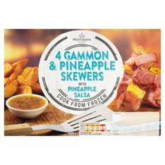 Morrisons 4 Gammon Skewers with Pineapple Salsa (400g) ONLY £1.00 @ Morrisons