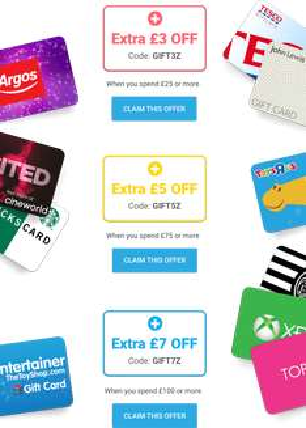 £7 off £100 / £5 off £75 / £3 off £35 Gift Vouchers at Zeek
