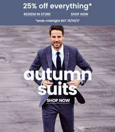 25% off everything in Burton's until 15/10/2017. Both online and in store.