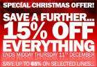 Extra 15% off everything at Manchester United Online Store