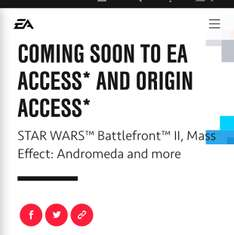 Mass Effect Andromeda NOW AVAILABLE in EA access + star wars battlefront 2 play first trial coming soon