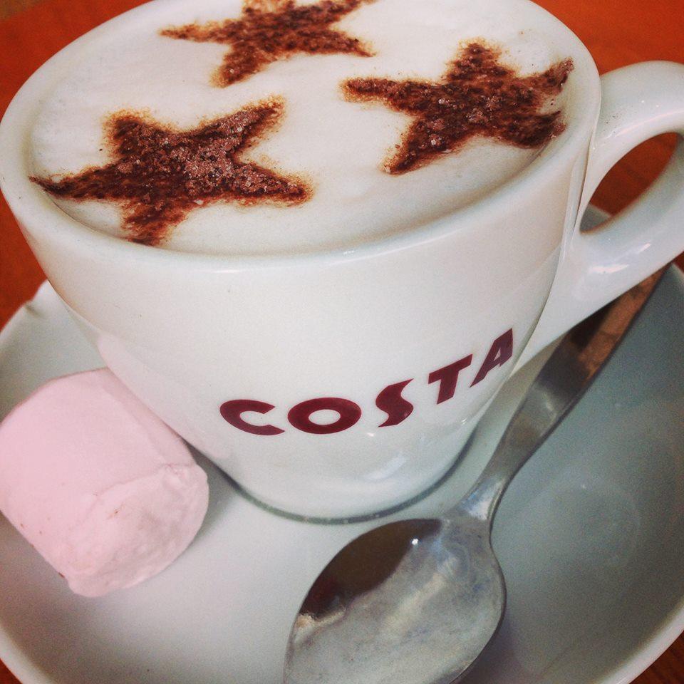 Babyccino 55p at Costa Coffee