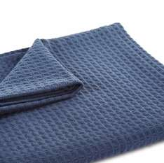 CLEODORA BLUE WAFFLE WOVEN THROW Reduced from £18 to £8 at B&Q online & click and collect
