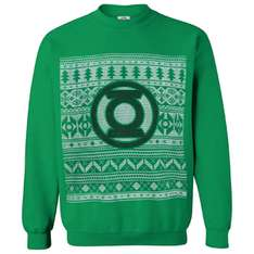 DC Comics - The Flash or Green Lantern Christmas Xmas Jumpers - 57% off - £12.99 delivered @ IWOOT