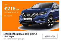 Nissan Qashqai Diesel 1.5 dCi Acenta [Smart Vision] 5dr Personal contract hire @ £215.74/Month inc VAT for 3yrs (£7766.64 total) & mileage 10K with YesLease