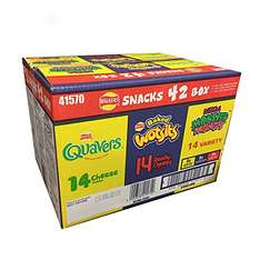 Walkers Snacks Mixed 42 Box of Quavers (14 x 16.5g) / Wotsits (14 x 16g) / Monster Munch (14 x 22g) was £5.00 now £4.00 (so less than 10p a packet) @ Iceland