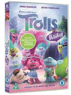 Trolls Holiday (Includes Free Poster) [DVD] Preorder for 20/11 only £4.50 delivered @ Zoom