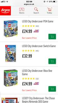 Ps4 & xbox one Limited edition Lego city undercover ( Includes 2 exclusive LEGO Mini toys in the box) £24.99 argos