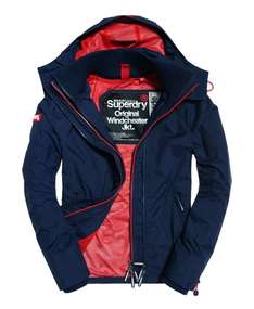 Superdry Pop Zip Hooded Technical Windcheater Jacket Navy £36.99 @ Superdry eBay with free P&P