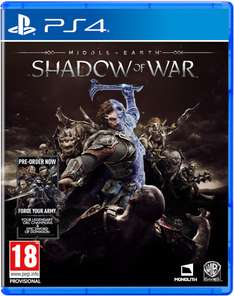 Middle-Earth: Shadow of War PS4/XBOX1 £31.19 Zavvi using code OCT20