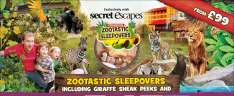 Zootastic Sleepovers at Chessington inc access to ZOO and SEA LIFE centre - £99