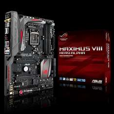 Asus Maximus VIII Hero Alpha Socket1151 ATX Motherboard + free CPU cooler + free delivery £131.90 @ eBuyer