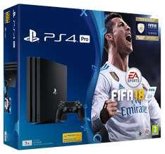 PS4 Pro 1TB FIFA 18 + now choice of THREE FREE games (From a choice of six)  Uncharted 1/2/3/Doom/Dishonoured 2/ Fallout 4- £349.85 @ Shopto