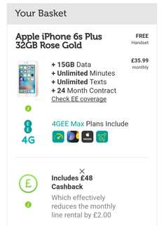 I phone 6s plus 32GB rose gold £863.76 @ Mobile Phones Direct