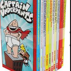 Captain Underpants boxset - 10 books @ TheWorks - FREE CLICK AND COLLECT