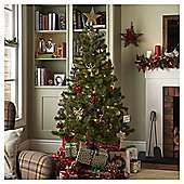 6ft Greenland Christmas Tree + Mixed Christmas Tree Decorations, 50 Pack (3 colours ) + 240 Multi-function LED Christmas Lights (4 Colours) from £41 @ Tesco Direct