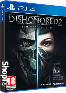 [PS4] Dishonored 2 Limited Edition (Including Dishonored Definitive Edition) - £9.85 - Shopto