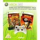 Xbox 360 Wireless Entertainment Pack - XBOX 360 Wireless Controller + Kung Fu Panda & Lego Indiana Jones for £23.49 Asda