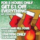 CD WOW £1 off everything today between 1pm and 9pm